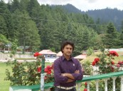 Shogran - Pine Park hotel ground in the back View