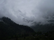Naran valley view after heavy rain